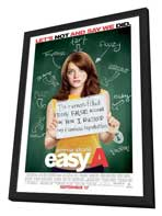 Easy A - 27 x 40 Movie Poster - Style A - in Deluxe Wood Frame