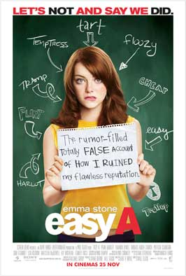 Easy A - 11 x 17 Movie Poster - UK Style A