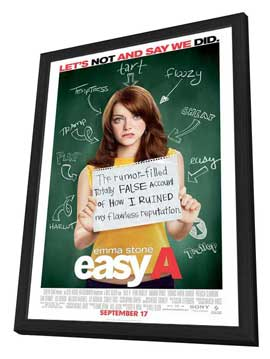 Easy A - 11 x 17 Movie Poster - Style A - in Deluxe Wood Frame