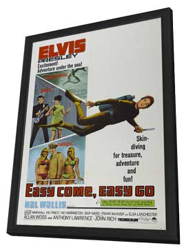 Easy Come, Easy Go - 11 x 17 Movie Poster - Style I - in Deluxe Wood Frame