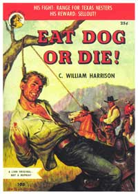 Eat Dog or Die! - 11 x 17 Retro Book Cover Poster