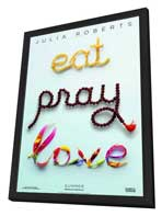 Eat, Pray, Love - 11 x 17 Movie Poster - Style A - in Deluxe Wood Frame