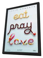 Eat, Pray, Love - 27 x 40 Movie Poster - Style A - in Deluxe Wood Frame