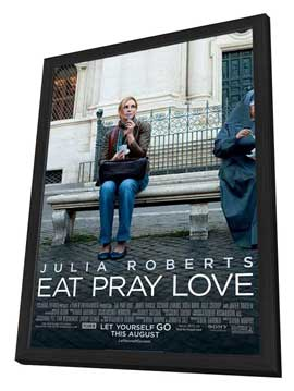 Eat, Pray, Love - 11 x 17 Movie Poster - Style B - in Deluxe Wood Frame