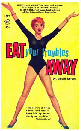 Eat Your Trouble's Away - 11 x 17 Retro Book Cover Poster