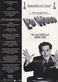 Ed Wood - 27 x 40 Movie Poster - German Style A