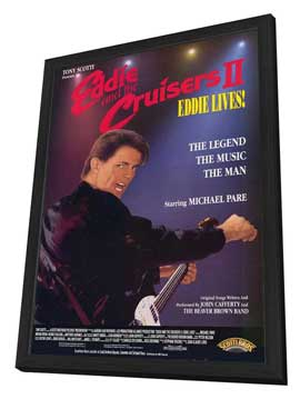 Eddie and the Cruisers 2: Eddie Lives! - 27 x 40 Movie Poster - Style B - in Deluxe Wood Frame