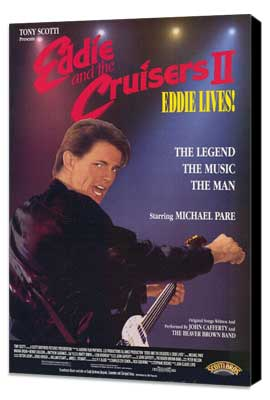 Eddie and the Cruisers 2: Eddie Lives! - 27 x 40 Movie Poster - Style B - Museum Wrapped Canvas