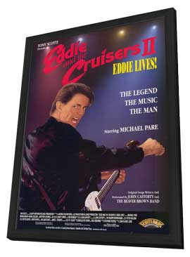 Eddie and the Cruisers 2: Eddie Lives! - 11 x 17 Movie Poster - Style B - in Deluxe Wood Frame