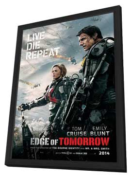 Edge of Tomorrow - 11 x 17 Movie Poster - Style A - in Deluxe Wood Frame