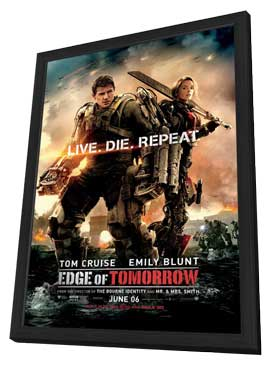 Edge of Tomorrow - 11 x 17 Movie Poster - Style B - in Deluxe Wood Frame