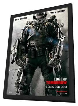 Edge of Tomorrow - 11 x 17 Movie Poster - Style C - in Deluxe Wood Frame