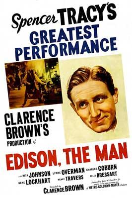 Edison, the Man - 11 x 17 Movie Poster - Style B
