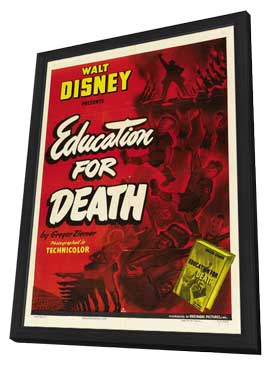 Education for Death - 27 x 40 Movie Poster - Style A - in Deluxe Wood Frame