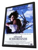Edward Scissorhands - 27 x 40 Movie Poster - Style B - in Deluxe Wood Frame