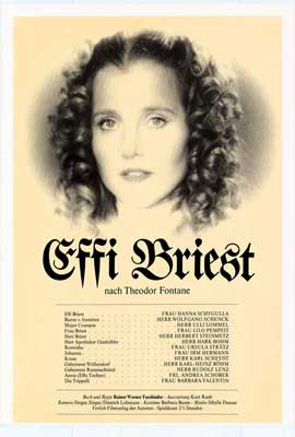 Effi Briest - 27 x 40 Movie Poster - German Style A