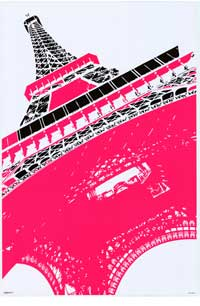 Eiffel Tower Paris - Art Poster - 24 x 36 - Style A