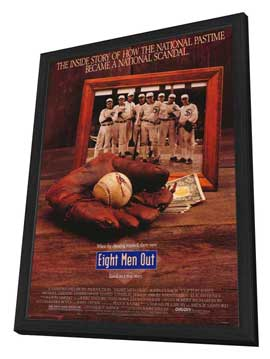Eight Men Out - 27 x 40 Movie Poster - Style B - in Deluxe Wood Frame