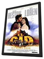 El Cid - 11 x 17 Movie Poster - Style B - in Deluxe Wood Frame