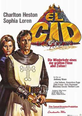 El Cid - 11 x 17 Movie Poster - German Style A