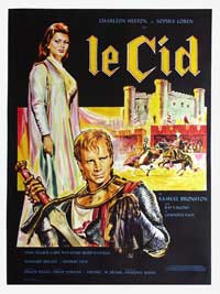 El Cid - 27 x 40 Movie Poster - French Style B