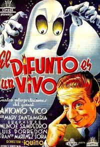 El difunto es un vivo - 11 x 17 Movie Poster - Spanish Style A