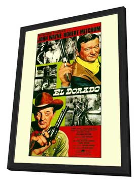 El Dorado - 27 x 40 Movie Poster - Style A - in Deluxe Wood Frame