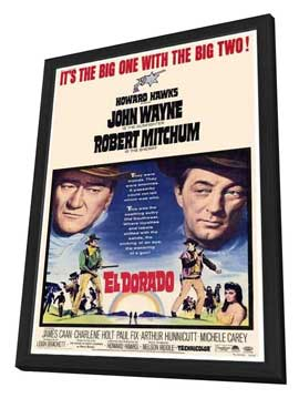 El Dorado - 27 x 40 Movie Poster - Style B - in Deluxe Wood Frame