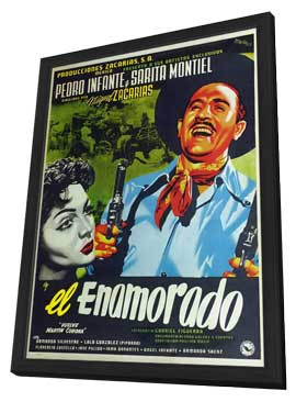 El enamorado - 27 x 40 Movie Poster - Spanish Style A - in Deluxe Wood Frame