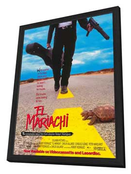 El Mariachi - 27 x 40 Movie Poster - Style A - in Deluxe Wood Frame