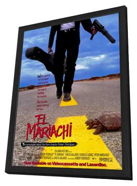 El Mariachi - 11 x 17 Movie Poster - Style A - in Deluxe Wood Frame