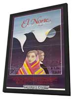 El Norte - 11 x 17 Movie Poster - Style A - in Deluxe Wood Frame
