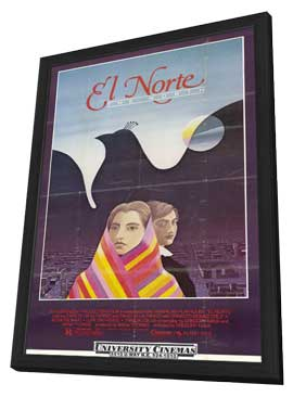 El Norte - 27 x 40 Movie Poster - Style A - in Deluxe Wood Frame