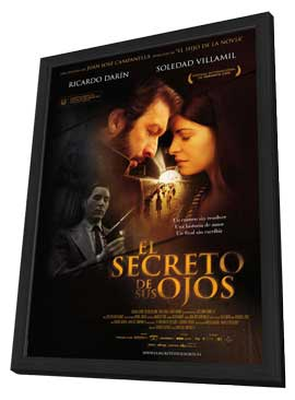 El Secreto de sus Ojos - 27 x 40 Movie Poster - Spanish Style A - in Deluxe Wood Frame