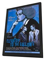 Elevator to the Gallows - 11 x 17 Movie Poster - Style B - in Deluxe Wood Frame