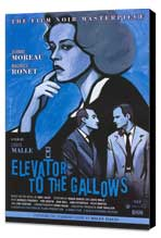 Elevator to the Gallows - 11 x 17 Movie Poster - Style B - Museum Wrapped Canvas