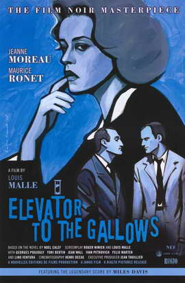 Elevator to the Gallows - 11 x 17 Movie Poster - Style B
