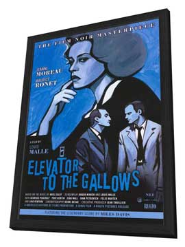 Elevator to the Gallows - 27 x 40 Movie Poster - Style B - in Deluxe Wood Frame