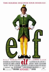 Elf - 11 x 17 Movie Poster - Style A - Museum Wrapped Canvas