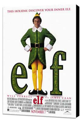 Elf - 27 x 40 Movie Poster - Style A - Museum Wrapped Canvas