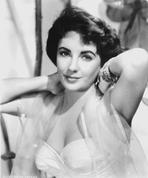 Elizabeth Taylor - Elizabeth Taylor Posed in Dress