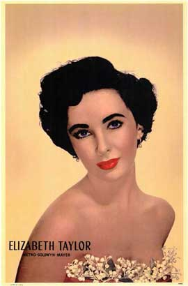 Elizabeth Taylor - 11 x 17 Movie Poster - Style A
