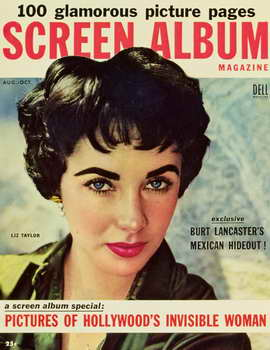 Elizabeth Taylor - 11 x 17 Screen Album Magazine Cover 1950's