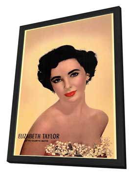 Elizabeth Taylor - 11 x 17 Movie Poster - Style A - in Deluxe Wood Frame
