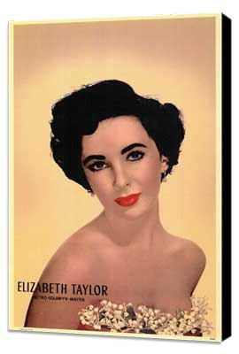 Elizabeth Taylor - 11 x 17 Movie Poster - Style A - Museum Wrapped Canvas