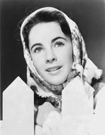 Elizabeth Taylor - Elizabeth Taylor Looking Away in Classic with Shawl