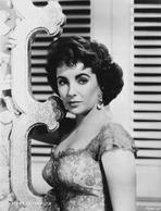 Elizabeth Taylor - Elizabeth Taylor Serious Posed in Black and White with Earrings