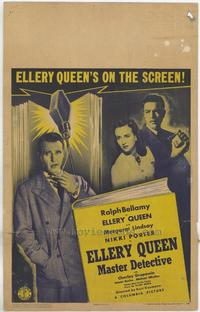 Ellery Queen, Master Detective - 27 x 40 Movie Poster - Style A