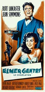 Elmer Gantry - 20 x 40 Movie Poster - French Style A