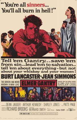 Elmer Gantry - 11 x 17 Movie Poster - Style A